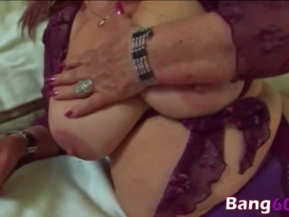 Blonde Granny Fat Dominika Blowjob Sideways
