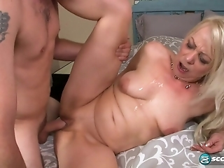 Hungry For Cock Granny Gets Fucked Hard By Young Dude