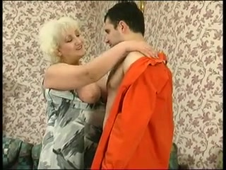 Immoral Blond Granny Seduces Shlong