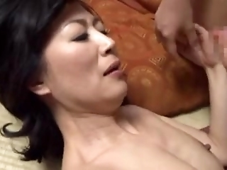 Japanese Mature Gets Stuffed With A Dick