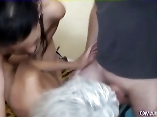 Teen And Granny Threesome