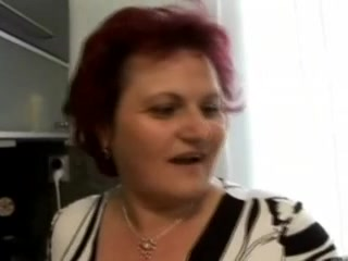 Plump Big Beautiful Woman Granny Drilled In The Kitchen