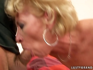 Filthy Granny Is Giving A Head And Then Getting Her Cunt Toy Fucked In Filthy Reality Porn Clip
