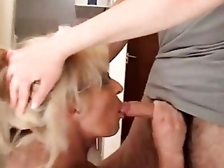 Blonde Granny Sucks And Fucks Hard