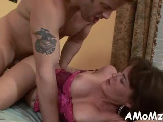 Pussy Licking And Crazy Riding Is What This Horny Mom Needs