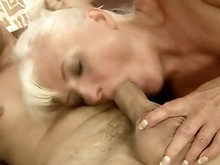 Old Granny Sucks And Fucks Hard Cock