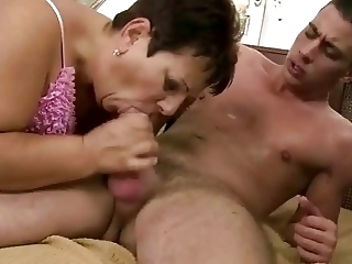 Fat Grandma Fucking With Young Man