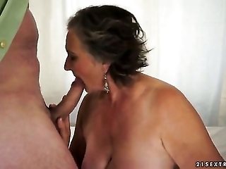 Crazy Granny Named Kata Sucks Her Fucker's Cock And Gets Out In Her Old Hole