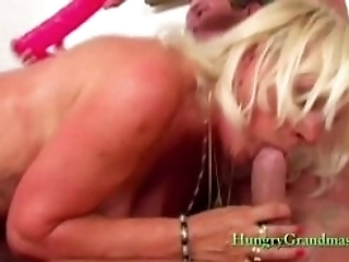 Blonde Granny Gets Fucked Hardcore By A Stud With A Big Cock