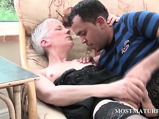 Mature Slut Gets Pussy Teased On A Chair