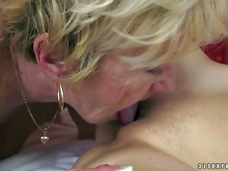 Young Beata Undine Having Lesbian Sex With Granny