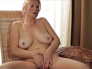 Busty Mature Fingering Her Aged Pussy And Teasing Her Big Tits At Once