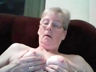 Old Mature Granny Lady Solo Amateur Masturbation Webcam Toy