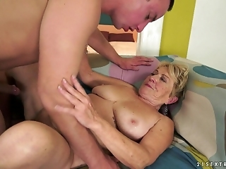 Dirty Granny Malya Gets Her Hairy Hole Fucked