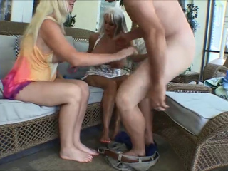Old & Young Footjob -