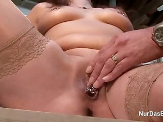 German 63yr Old Granny Seduce To Fuck On Work