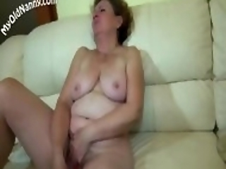 Granny With Young Girl Dildoing Pussies