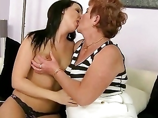 Fat Granny Enjoys Lesbian Sex With Teen Girl