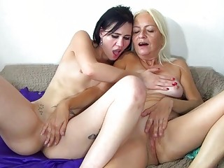 Oldnanny Granny And Teen Is Enjoying Masturbation