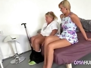 Granny Has Fun With A Blonde Teen They Have Some Lesbian Fun